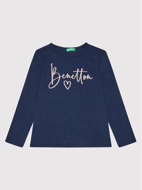 United Colors Of Benetton United Colors Of Benetton Blusa 3I9WC15BM Blu scuro Regular Fit