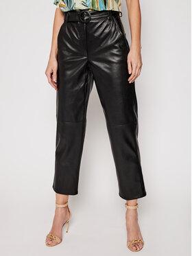 Marella Marella Kožené kalhoty Pergola 31310311200 Černá Regular Fit