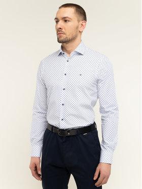 Tommy Hilfiger Tailored Tommy Hilfiger Tailored Koszula Micro Print Classic TT0TT06465 Biały Slim Fit