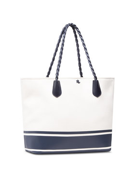 Lauren Ralph Lauren Lauren Ralph Lauren Torebka Hutton 35 Tote Large Natural 431832617001 Biały