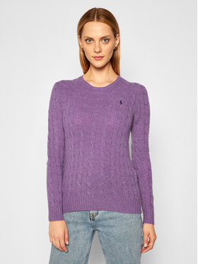 Polo Ralph Lauren Polo Ralph Lauren Pulover Julianna Wool/Cashmere 211525764067 Violet Straight Fit