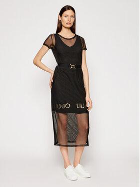 Liu Jo Sport Liu Jo Sport Ежедневна рокля TA1139 J6187 Черен Regular Fit
