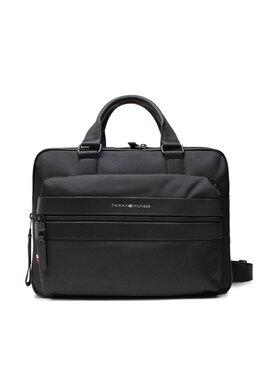Tommy Hilfiger Tommy Hilfiger Чанта за лаптоп Elevated Nylon 48 Hour Bag AM0AM07583 Черен