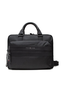 Tommy Hilfiger Tommy Hilfiger Geantă pentru laptop Elevated Nylon 48 Hour Bag AM0AM07583 Negru
