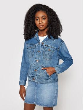 Wrangler Wrangler Kurtka jeansowa Retro W415SF260 Granatowy Regular Fit
