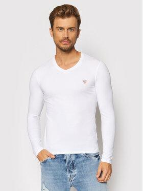 Guess Guess Marškinėliai ilgomis rankovėmis M1RI08 J1311 Balta Super Slim Fit