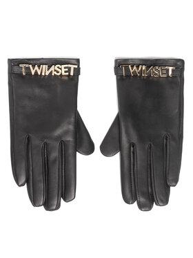 TwinSet TwinSet Dámske rukavice 202TA4353 Čierna