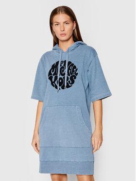MICHAEL Michael Kors MICHAEL Michael Kors Плетена рокля MU180MPD8L Син Regular Fit