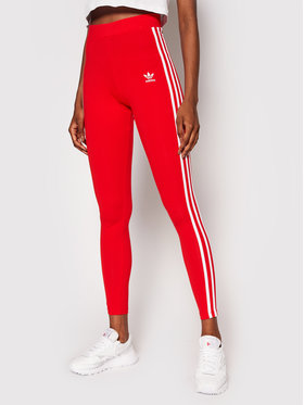 adidas adidas Legginsy adicolor Classics 3-Stripes H09428 Czerwony Extra Slim Fit