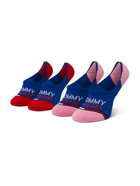 Tommy Jeans Tommy Jeans Set de 2 perechi de șosete scurte de damă 100000403 Bleumarin