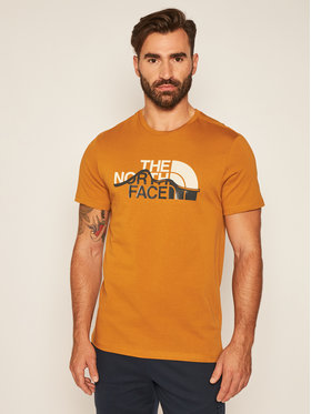 The North Face The North Face Marškinėliai Mountain Line Tee NF00A3G2VC71 Ruda Regular Fit