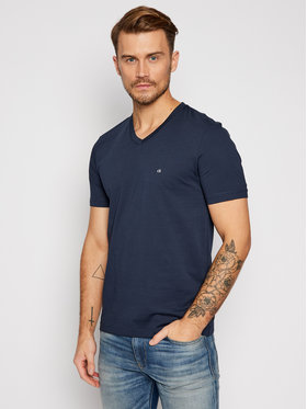Calvin Klein Calvin Klein T-shirt Logo Embroidery K10K103672 Blu scuro Regular Fit