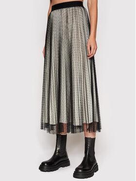 TWINSET TWINSET Plisovaná sukňa 212TT2060 Čierna Regular Fit