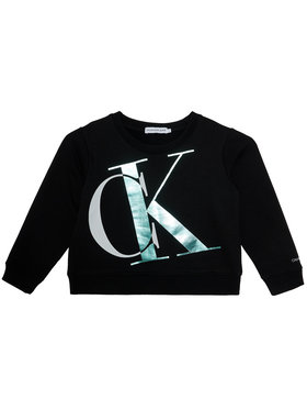 Calvin Klein Jeans Calvin Klein Jeans Bluza Exploded Monogram Bxy IG0IG00685 Czarny Regular Fit