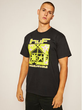 HUF HUF Póló Deep House TS01160 Fekete Regular Fit