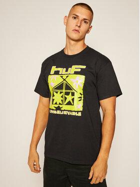 HUF HUF T-Shirt Deep House TS01160 Černá Regular Fit