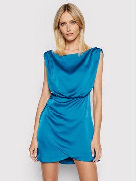 Guess Guess Kokteilinė suknelė W1GK42 RD461 Mėlyna Slim Fit