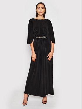 Lauren Ralph Lauren Lauren Ralph Lauren Večernja haljina Long Gown 253816842002 Crna Regular Fit