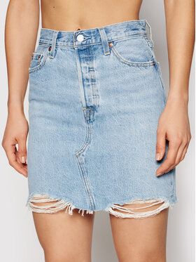 Levi's® Levi's® Jeans suknja Deconstructed 77882-0040 Plava Boyfriend Fit