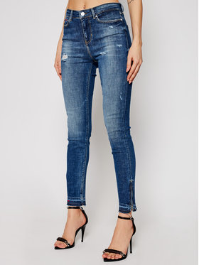 Guess Guess Blugi Skinny High Fit 1981 W1RA93 D46A4 Albastru Skinny Fit