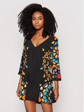 Desigual Desigual Φόρεμα παραλίας Maui 21SWMW21 Μαύρο Regular Fit