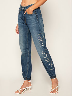 Guess Guess Τζιν Regular Fit Roby Jogger W0YA40 D3Y08 Σκούρο μπλε Regular Fit
