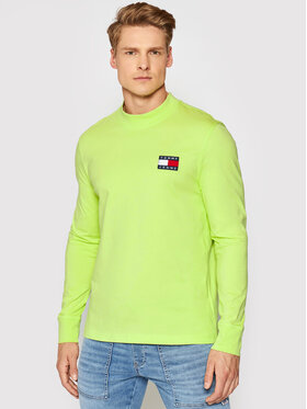 Tommy Jeans Tommy Jeans Hosszú ujjú Tjm Badge Mock Neck DM0DM10281 Sárga Regular Fit