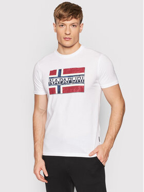 Napapijri Napapijri T-Shirt Sench NP0A4FRR Λευκό Regular Fit