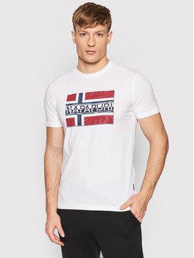 Napapijri Napapijri T-Shirt Sench NP0A4FRR Weiß Regular Fit
