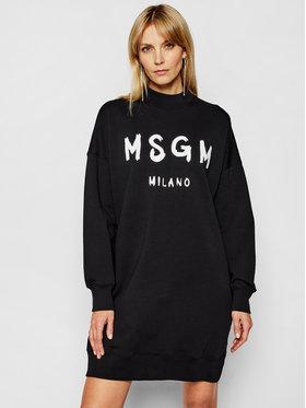 MSGM MSGM Úpletové šaty 3041MDA67 217299 Čierna Regular Fit