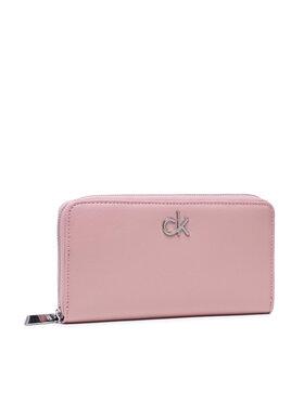 Calvin Klein Calvin Klein Голям дамски портфейл Slim Z/A Wallet Lg K60K608346 Розов