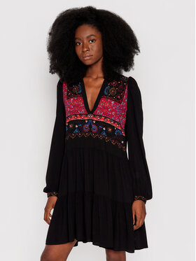Desigual Desigual Každodenní šaty Solsona 21WWVW49 Černá Regular Fit