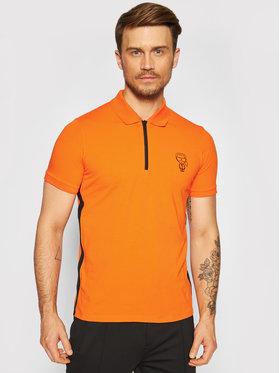 KARL LAGERFELD KARL LAGERFELD Тениска с яка и копчета 745020 511221 Оранжев Regular Fit