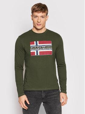 Napapijri Napapijri Тениска с дълъг ръкав Sench NP0A4FRQ Зелен Regular Fit