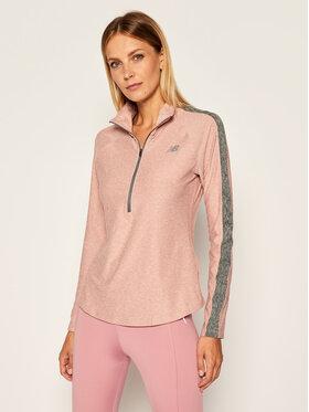 New Balance New Balance Bluza techniczna NBWT03152 Różowy Regular Fit