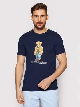Polo Ralph Lauren Polo Ralph Lauren T-Shirt Ssl 710835761001 Granatowy Slim Fit