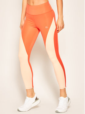 Calvin Klein Performance Calvin Klein Performance Legginsy Tight 00GWS0L604 Pomarańczowy Slim Fit