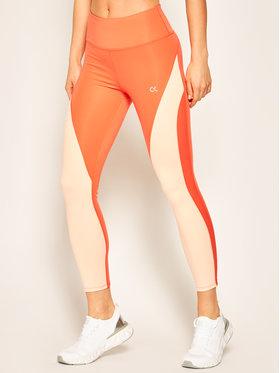 Calvin Klein Performance Calvin Klein Performance Legíny Tight 00GWS0L604 Oranžová Slim Fit