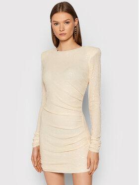 Elisabetta Franchi Elisabetta Franchi Коктейлна рокля AB-007-16E2-V450 Бежов Slim Fit