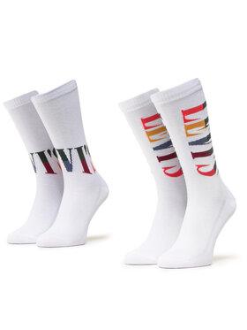 Levi's® Levi's® Sada 2 párů pánských vysokých ponožek 100000589 Bílá