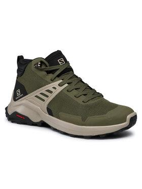 Salomon Salomon Trekingová obuv X Raise Mid Gtx GORE-TEX 410958 26 V0 Zelená