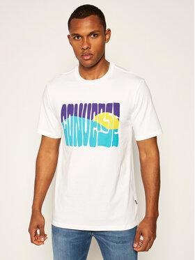 Converse Converse T-Shirt Rising Sun 10018864-A01 Biały Regular Fit