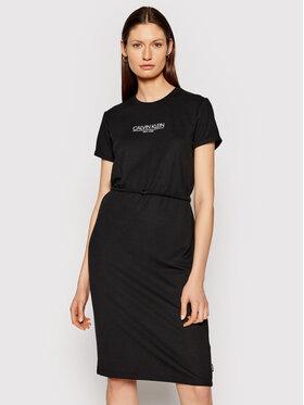 Calvin Klein Calvin Klein Haljina za svaki dan Logo K20K202805 Crna Regular Fit
