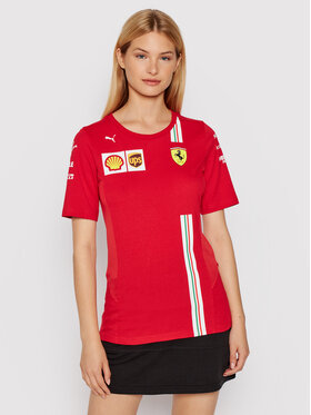 Puma Puma Тишърт Scuderia Ferrafi Team 763037 Червен Regular Fit