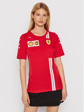 Puma Puma Tricou Scuderia Ferrafi Team 763037 Roșu Regular Fit