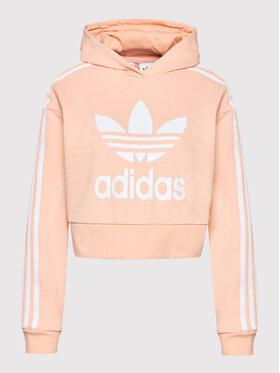 adidas adidas Džemperis adicolor H32339 Oranžinė Cropped Fit