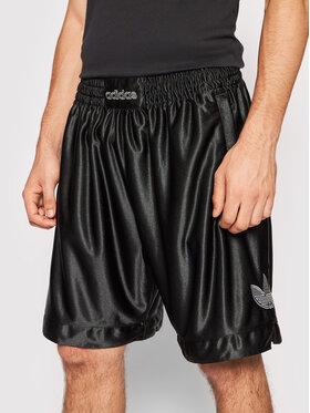 adidas adidas Szorty sportowe Sprt Logo H06749 Czarny Regular Fit