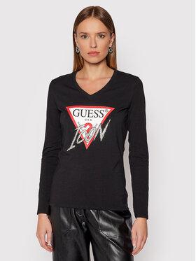 Guess Guess Блуза Icon W1BI21 J1311 Черен Reguar Fit