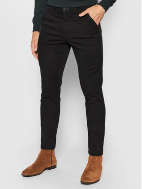 Selected Homme Selected Homme Chinosy Miles 16074054 Czarny Slim Fit