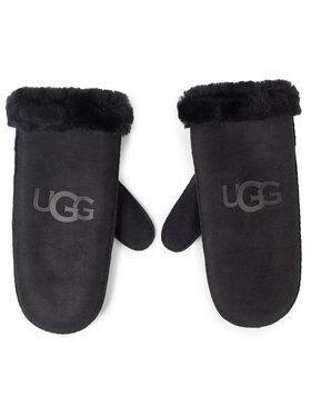 Ugg Ugg Дамски ръкавици W Sheepskin Logo Mitten 18690 Черен